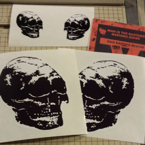 Bastard Noise Skull Sticker Set